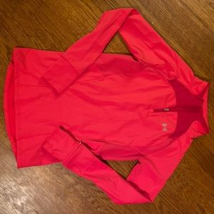 Ladies under armour small half zip. Like new!